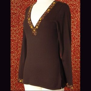INC International Concepts Sweaters - INC INTERNATIONAL CONCEPTS brown sweater M