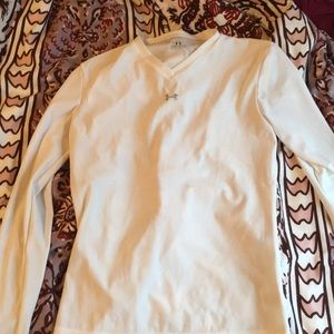 White under armour long sleeve