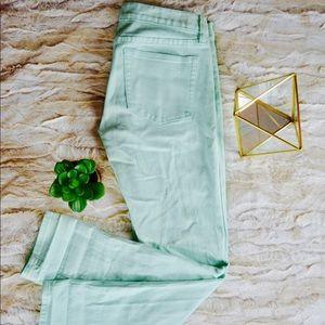 J. Crew Women's Toothpick Skinny Jeans in Mint