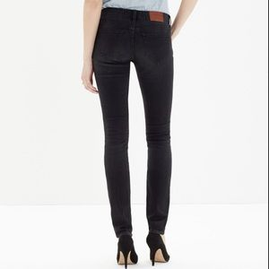 Madewell Black Frost Alley Straight Leg Jeans