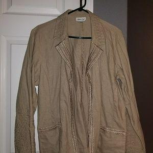 Kahki Linen Blazer Jacket