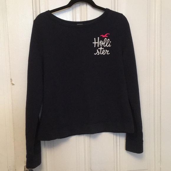 Hollister Shirts Tops Navy Blue Sweater Girls Large Poshmark