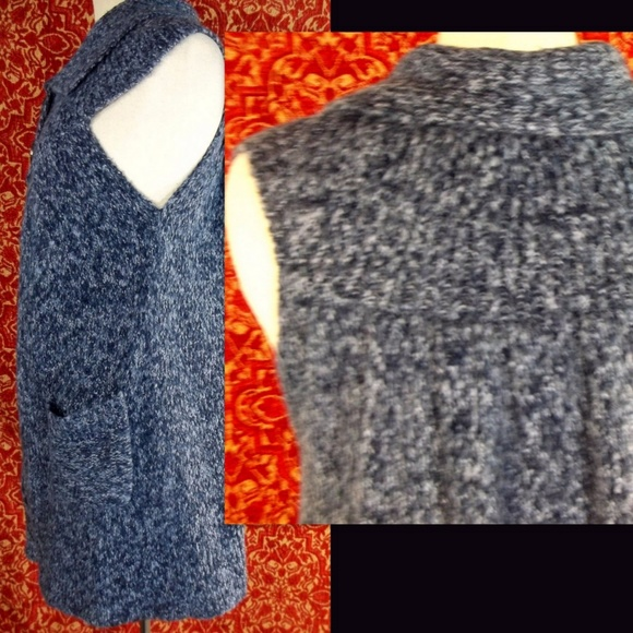 Sweaters - MISS GUIDED Navy tweed sleeveless sweater vest M