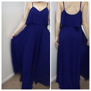 Lulu's Blue Maxi Dress