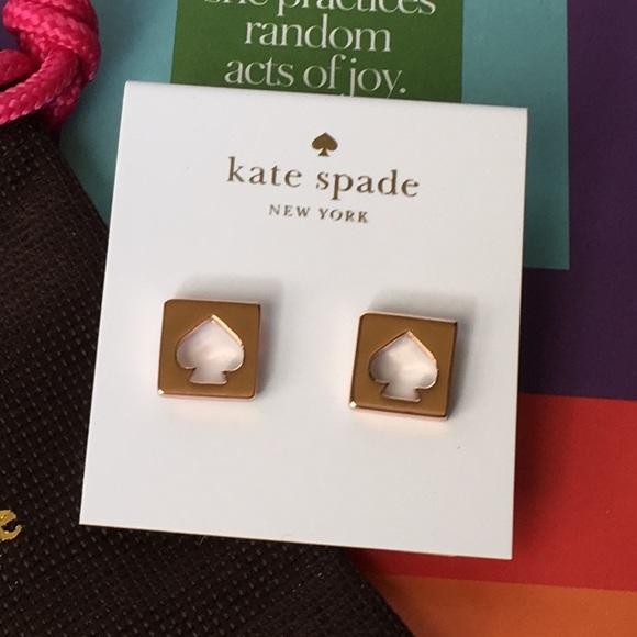 efdeab9e81b1f NWT Kate Spade Earrings Rose Gold NWT