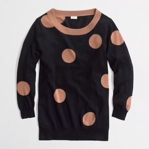 J.Crew Factory Intarsia Charley Sweater In Big Dot