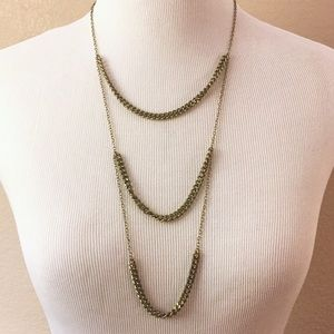 Sole Society layered chain necklace