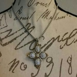 Emma Skye steel and crystal pendant w/chain