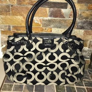Coach Madison OP art Kara carryall  purse 22344