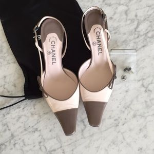 Chanel mules; worn once