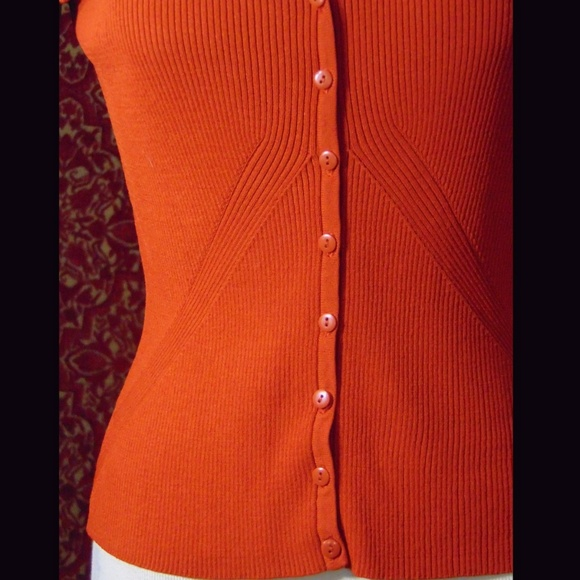 Worthington Sweaters - WORTHINGTON orange rayon blend ribbed sweater M