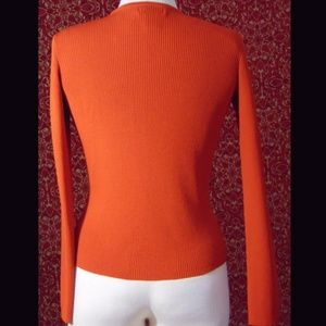 Worthington Sweaters - WORTHINGTON orange rayon blend ribbed sweater M