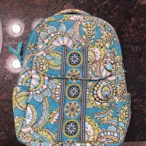 Blue and green Vera Bradley Small Backpack