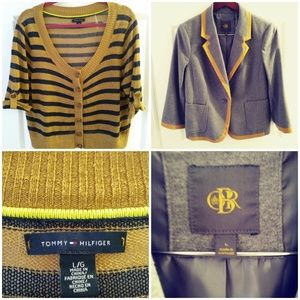 Mustard Bundle of Sweater Shirt and Jacket Both L