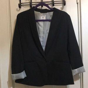 Navy blue and pin stripe blazer