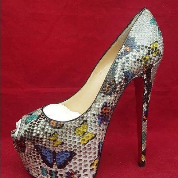 764c5a43e55c Christian Louboutin Highness 160 Python Butterfly