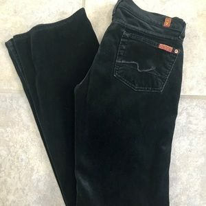 7 For All Mankind Velour Bootcut Jeans