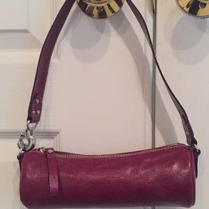 Kate Spade Burgundy Barrel Bag