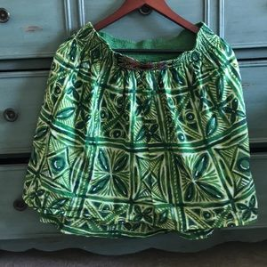 Anthropologie elastic green skirt M us 6size