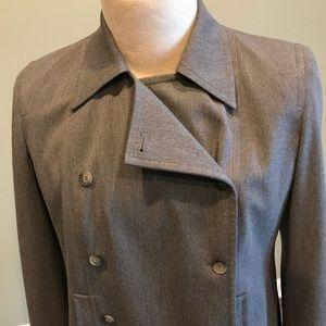 Ann Taylor Loft Lovely Gray Pea coat Women's 12