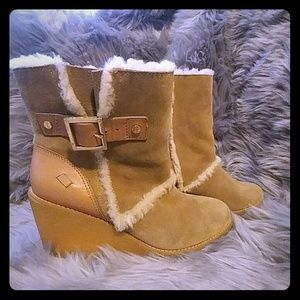 Tory Burch ankle wedge boots