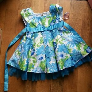 2T blue flower dress