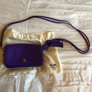 Purple coach shoulder bag- NEW WITH BAG
