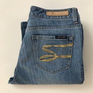 SEVEN7 Premium light wash flare jeans