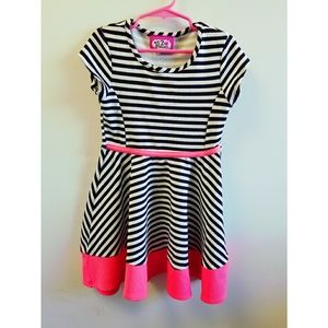 2 Princess Striped Skater Dress