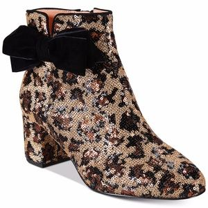 Kate Spade Leopard Print Langley Bow Boot, 6.5