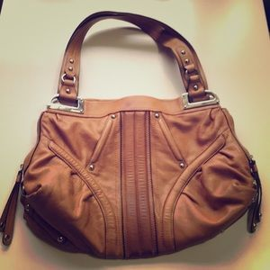 Supple B. Mamie sky camel tinge purse