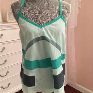NWT Cross back green tank top size small