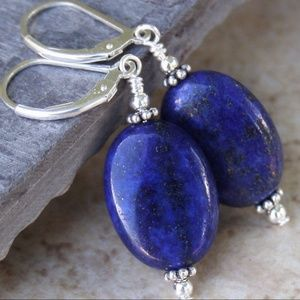 Silver Lapis Earrings