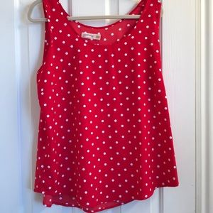 Faded Glory polka dot tank