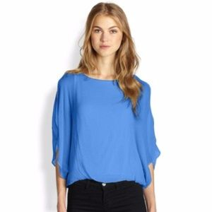 Alice + Olivia Pool Textured Silk Dolman Top