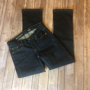 J. Crew Dark Wash Short Bootcut Jeans
