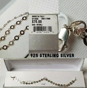 925 Sterling Silver Italian 3 Strand Bracelet