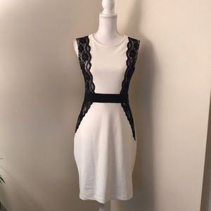 Maurice's- White and Black Lace Dress