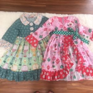 Jelly the Pug girls size 6 dresses  Christmas
