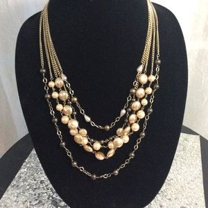 Talbot's Multi colored freshwater pearl necklace