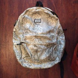 Vans snakeskin print backpack