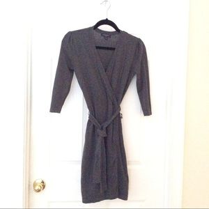 Charcoal Gray Crossover Top Dress