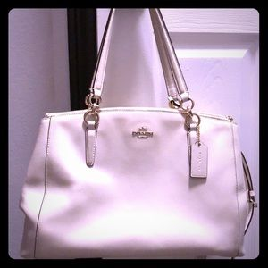 🔥 authentic white coach purse 🔥