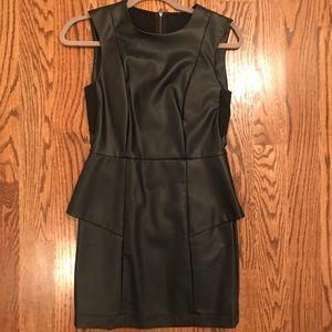 BCBG Generation Black Leather Dress
