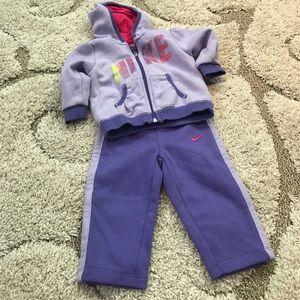 Nike Baby Zip up Hoodie and Sweatpants