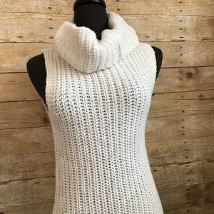 Rue 21 Beige sleeveless Cowell neck sweater size S