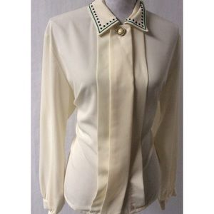 Cream Vintage Top Size 12