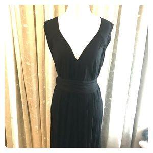 BCBG Belted Asymmetrical Midi Dress
