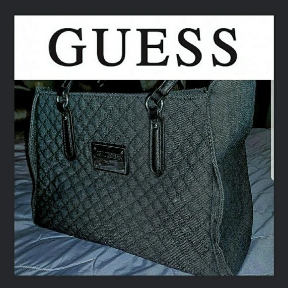 Guess Handbags - 👛⚫GUESS Black Denim Tote Bag⚫👛 39c2e2cde1