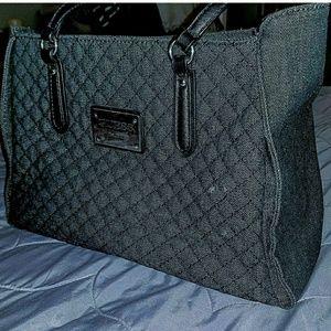 GUESS Black Denim Tote Bag